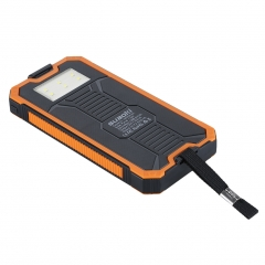 Suaoki 10000mAh Solar Charger Power Bank for Mobile Phone and Tablet with LED Flashlight as the picture 10000mAh