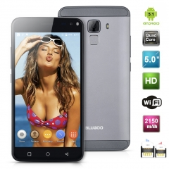 Bluboo Xfire 2 5.0'' Android 5.1 MT6580 Quad Core 1.2GHz RAM 1GB + ROM 8GB  SmartPhone Black+Gray