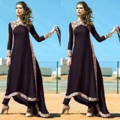 Classical Style Lace Maxi Dress Woman sleeve Irregular Hem Dress Evening Dress Black M