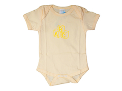 M/Easy COTTON BABY ROMPER(SHORT-SLEEVE) YELLOW
