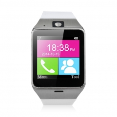 Excelvan NFC Bluetooth Smart Watch with Camera SIM for Android iOS White