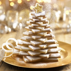 OUTU 9-piece Christmas Tree Cookie Cutter Set as the picture One Size