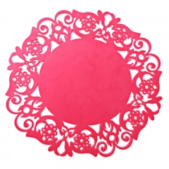 Multipurpose Silicone Hollow Non-slip Heat Resistant Pad Mat rose madder one size
