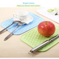 Multipurpose Silicone Flexible Non-slip Heat Resistant Pad Mat SMALL SIZE lake blue one size