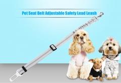 Retractable Pet Seat Belt Lead Reflective Training Dog Leash green one size