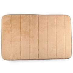 40 x 60cm Coral Velvet Bathroom Mat Non-slip Memory Foam Rug Soft Floor Carpet Light Camel one size