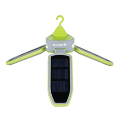 Suaoki Outdoor Solar Panel Foldable Water Resistant LED Lantern for Camping Hiking Green LED Lantern
