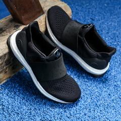 Fast Sport Women's Elastic Running Sports Shoes One Woven Design Big Bang Soles Black US7.5