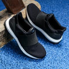 Fast Sport Men's Fission One Woven Design Big Bang Soles Elastic Running Sports Shoes Black US8.5