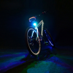 Super Bright 5 LED 7 Modes Rhombus Bicycle Taillight Bike Warning Lamp Cycling Necessary Red 11*8*3.5 CM