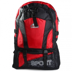 Double Shoulder Bag Camping Backpack Oxford Lightweight Back Bag for Outdoor Travel Red One Size