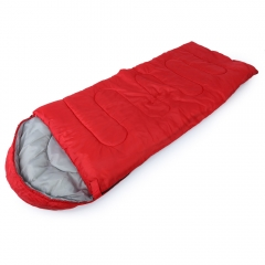 Outdoor Camping Travel Envelope Water Resistance Hooded Sleeping Bag Red
