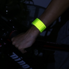 Outdoor Running Bicycle Reflective Tape Bind Pant Leg Band Night Warning Strap Green One size