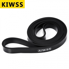 KIWSS 208CM Natural Latex Body Building Yoga Exercise Crossfit Loop Physio Resistance Band Black 208cm