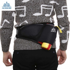 AONIJIE Unisex Running Waist Pack Cycling Bag Belt with Water Bottle Pocket Black One Size