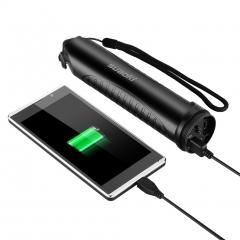 Suaoki Outdoor Multi-functional Portable Waterproof Flashlight &Power Bank Black 5200mAh
