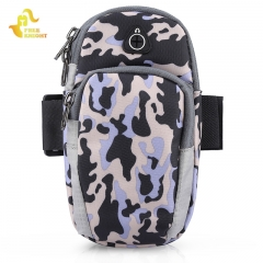 Camouflage Unisex Protective Phone Pouch Outdoor Arm Bag for Running Gym Camping Hiking Black Camouflage One Size