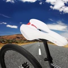 Outdoor Sports Bike MTB Saddle Racing Bicycle Hollow Saddle Seat White