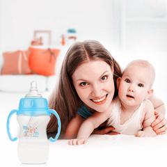 Pretty Baby 240ML Feeding Bottle FDA Standard Wide Caliber Cross Pacifiers bLUE