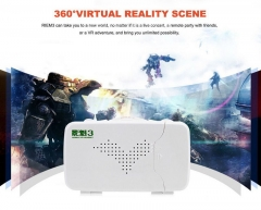 RITECH Riem 3 Virtual Reality 3D VR Glasses Head Mounted Headset Private Theater for Smartphone White One Size
