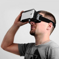 Practical ColorCross Universal Google Virtual Reality 3D Video Glasses with Elastic Band Black One Size