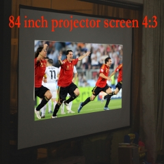 Excelvan Portable and Collapsible 84 inch 4:3 Fabric Matte Projector Projection Screen Material White 84inch