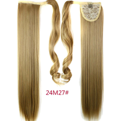 Straight Long Magic Wavy Clip Hair Drawstring Ponytails Hairpiece for Christmas Gift 8 61cm