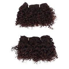 2016 New Arrival Cute Short Curly Hairpiece 2pcs Synthetic Hair Extensions 2 20cm