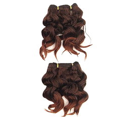 Angels Eva Cute Short Curly Hairpiece 2pcs Synthetic Hair Extensions  for Christmas Gift 2 40cm