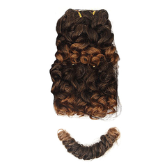 Angels Galaxy Cute Short Curly Hairpiece 2pcs Synthetic Hair Extensions  for Christmas Gift 2 40cm