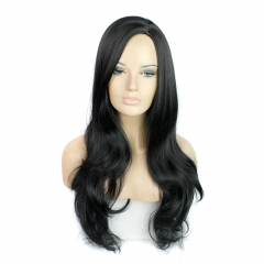 New Arrival Synthetic Hair Hot Sale Long Curly Hair For Women's Wigs  for Christmas Gift Black 71cm