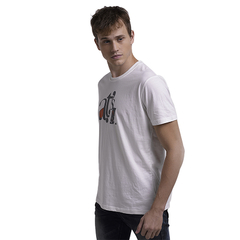 Casual Style Men Soft Print Active T-Shirt White S
