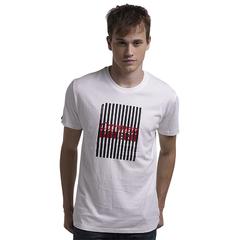 New Design Strip Print High Quality Cotton Customed T-Shirt White S