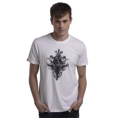Fashion Design Cotton Material Hot Print T-Shirt High Quality White S