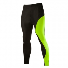 Fashion New Men Spell Color Breathable Tight Quick-drying Pants Fluorescent green M