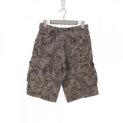 European Style Fashion New Men Multi-pocket Cargo Shorts Light Green 36