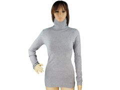 Miss Kiss Classy polo neck sweater tops for women grey Free-size