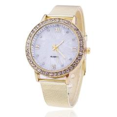 New Gold Watch Women Rhinestone Watch Ladeis Fashion Dress Quartz Watch Reloj Mujer