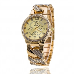 New Luxury Women Watches Stainless Steel Band Rose Gold Watch Fashion Women Quartz Watch Relogio gold