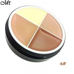 4 Colors Matte Cream Concealer Palette Foundation Powder 3#