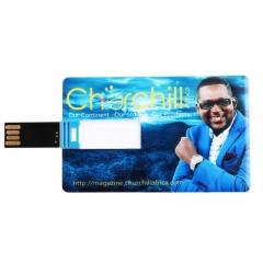 Churchill Branded USB Flash Disk 8GB Blue Unique Card Flash Drive