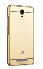 Infinix X554 Metallic Bumper Back Cover- Gold