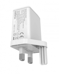 Infinix X601 Fast Charging Adaptor With Data Cable - Whiite white 2.0 a