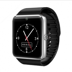 Smartwatch Bluetooth Touch Smart Watches GT08 for Iphone and all Android phone silver-black one size