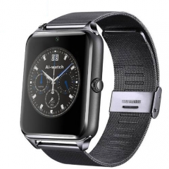 Z60 Smart Watch Bluetooth Wearable Devices Support SIM TF Card Camera SmartWatch for Apple Android black meteal