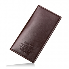 Men's Long Wallet personalized fashion leather wallet leisure quality PU wallet Brown One Size