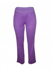Women's Straight Fit Ladies Pants purple s
