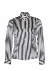 White Stripped Button Down Blouse white stripped s