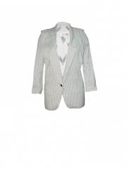 White Stripped Womens Coat white stripped l