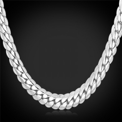 Snake Chain Necklace 18k Gold/Platinum/Rose Gold/Black Gun Plated Chain Necklace Men Jewellery Platinum Plated